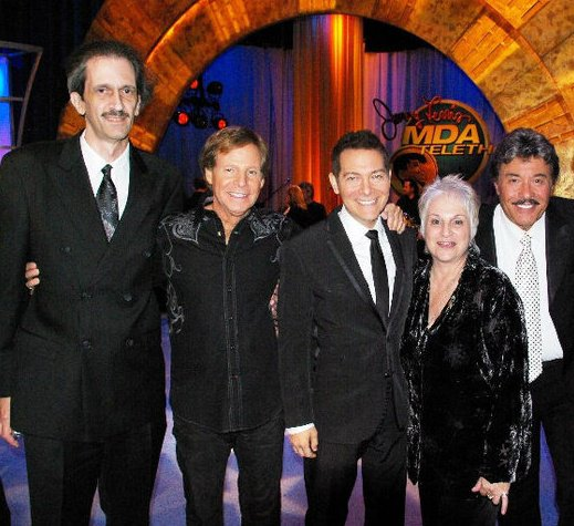 Chris DeBello with Ron Dante, Michael Feinstein, Toni Wine and Tony Orlando